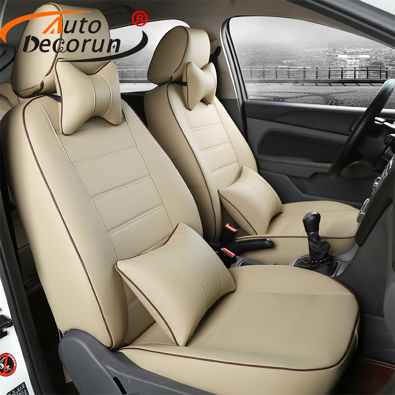 AutoDecorun custom PU leather covers seat for Mitsubishi ASX 2013 2014 seat cover car accessoires seat cushion covers 16 PCS/set