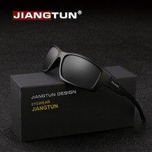 4e3ef2efa83ba Jiangtun 2018 Negro hombres gafas de sol polarizadas UV400 alta calidad al  aire libre deporte marca conducción gafas