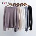 RZIV 2016 outono e inverno as mulheres botão decoração camisola solta casuais