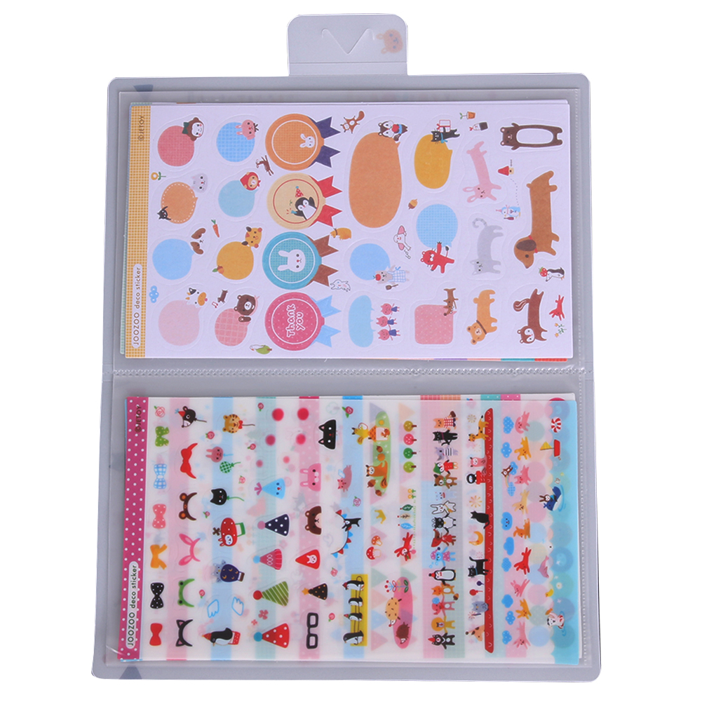 8Sheets Cute Cartoon DIY Decorative Stickers For Kids Photo Album Decoration Scrapbooking Diary Book Stickers Gift For Child Toy