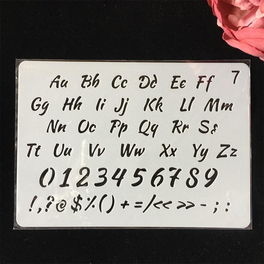 18cm Alphabet English Letters DIY Layering Stencils Painting Scrapbook Coloring Embossing Album Decorative Paper Card Template
