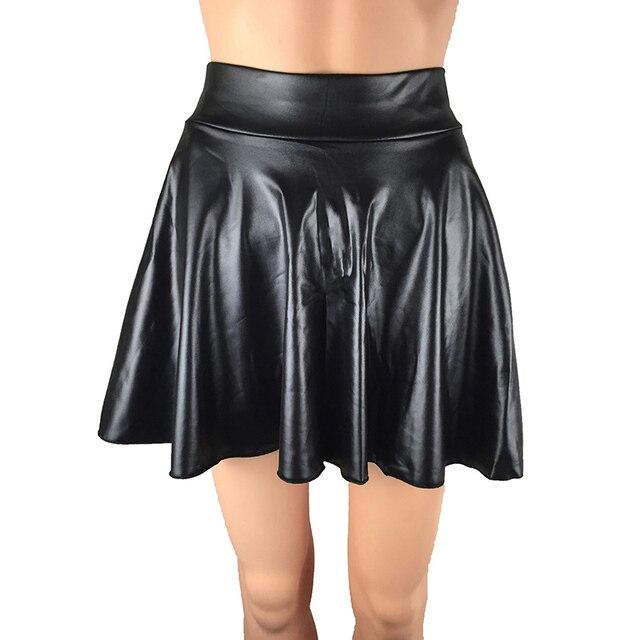 Nueva Falda De Cuero Sexi Verano 2019 Para Chicas Señora Coreana Corta Skater Moda Femenina Plisado Mini Falda Mujer Ropa Vestido Sol