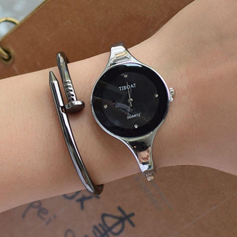 TIBOAT Luxury Brand Fashion Quartz Watch Women Stainless Steel Bracelet Watches Casual Ladies Clock For Gift луч набор для изготовление мыла цветы