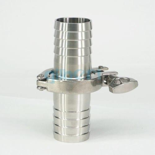 Dynamisch 89mm Schlauch Barb X 3,5 tri Clamp Sus304 Edelstahl Sanitärarmatur Tri-clover Hause Brauen Sanitär Rohrverbindungsstücke