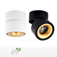 COB LED Downlights 5W 7W 10W 12W Surface Mounted LED Ceiling Lamps Spot Light 360 Degree Rotation Cloth Shop lighting fixtures