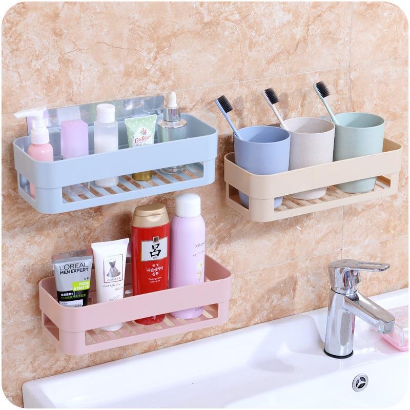 Bathroom shelf wall hanging bathroom shelf free punching toilet suction wall suction cup bathroom storage tripod in Bathroom Shelves from Home Improvement