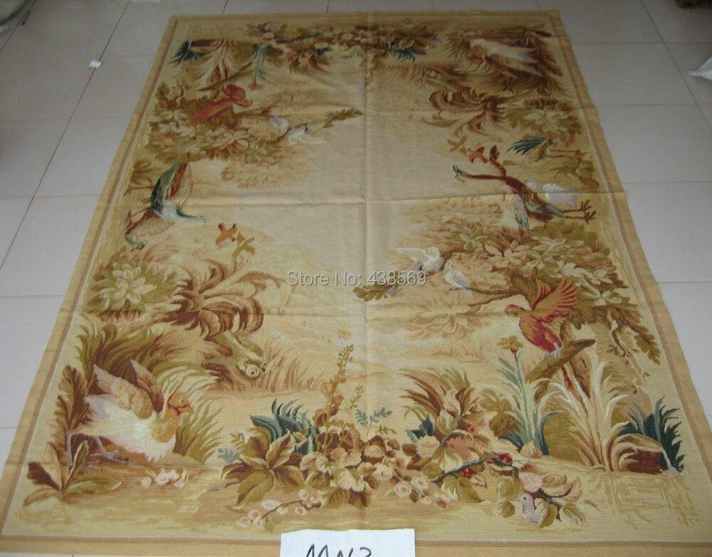 Livraison gratuite 10 K 8'X11' couture tapis, grands tapis pour salon 100% nouvelle-zélande laine tapis oiseaux design