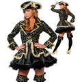 Mujeres Sexy trajes cosplay Party Deluxe traje de pirata adulto cosplay halloween fantasias trajes para womeninstyles