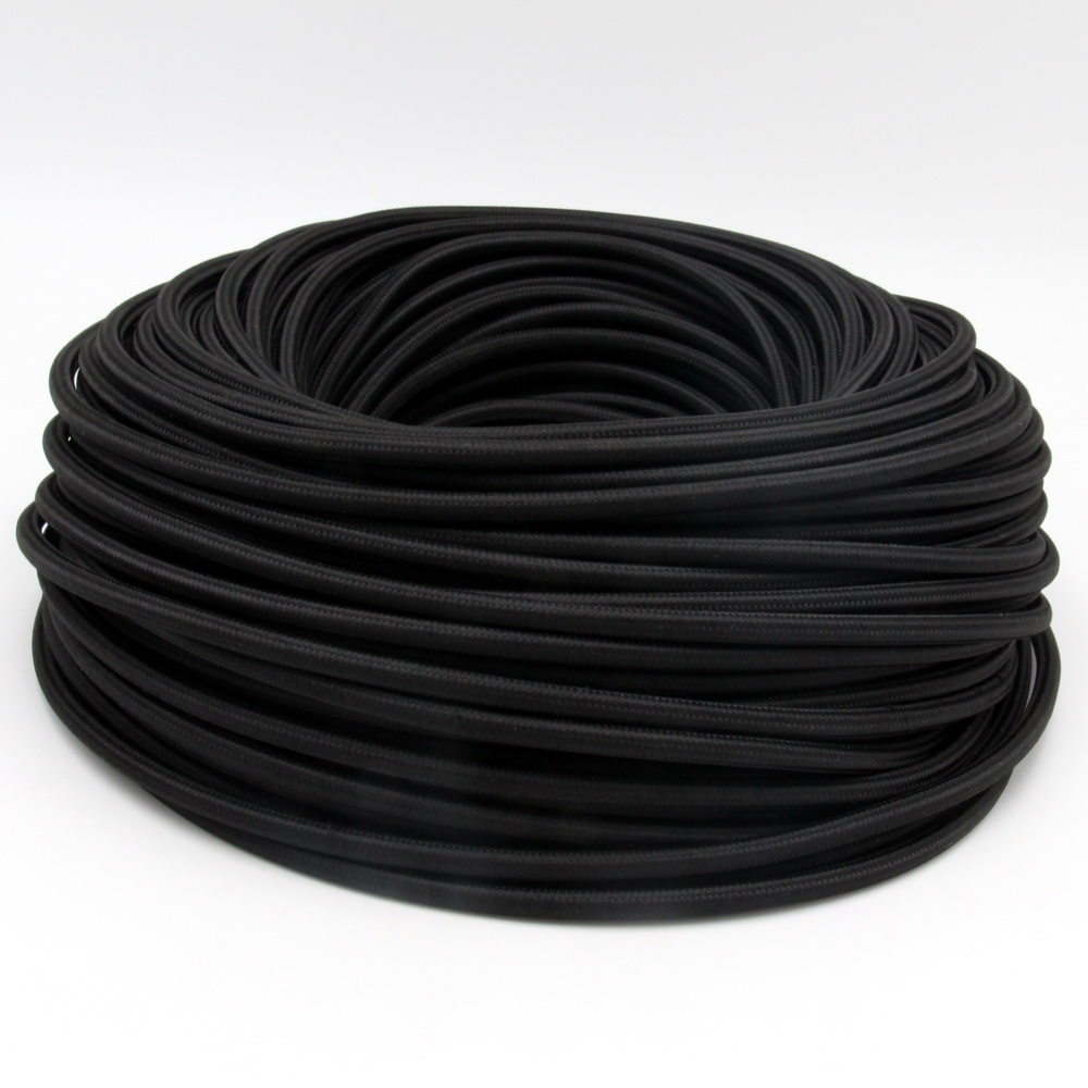 Online Shop 10 Meters Black Color 2 Core 075mm2 Textile Electrical Cloth Covered Wiring 3 Fabric Cable Vintage Light Cord Wire
