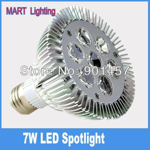 7W Par30  E27 LED Spotlights bulb  750lm high power energy savin spot lamp