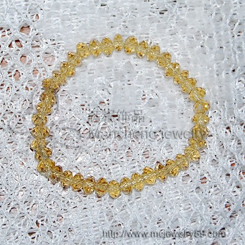 best-selling romantic handmade Yellow crystal bracelet bangle for women, Jewelry factory cheapest crystal bracelet fine quality