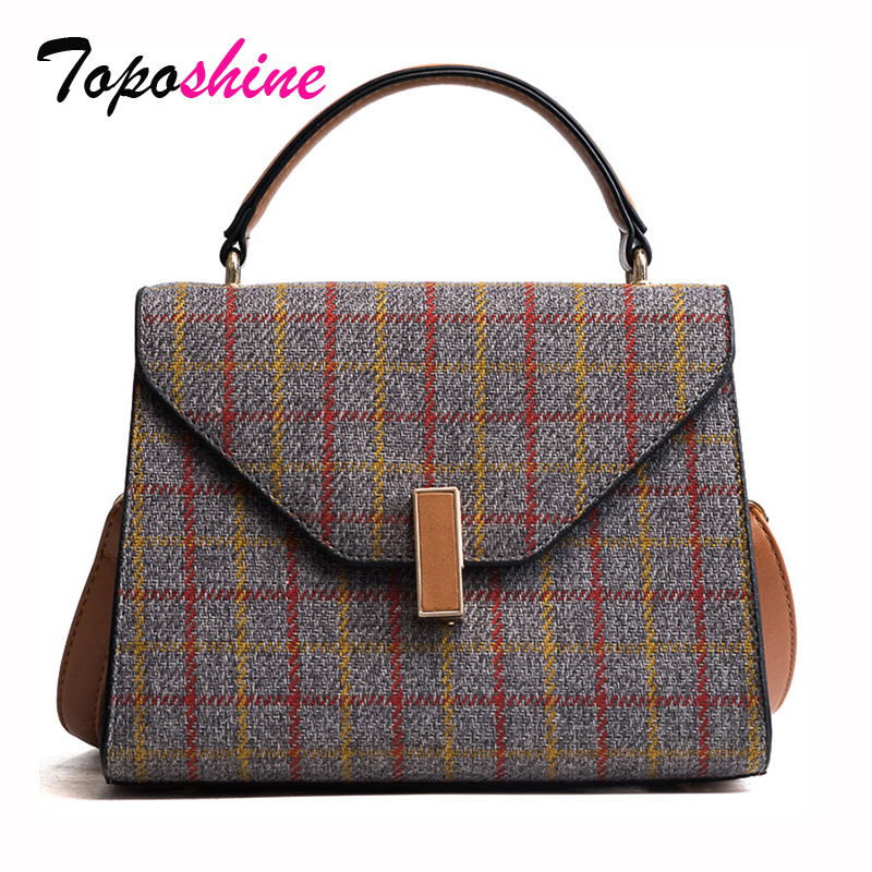 Fashion Plaid 2018 New Korean Version of the Trend Hit the Color Small Square Bag Casual Wild Shoulder Messenger Bag