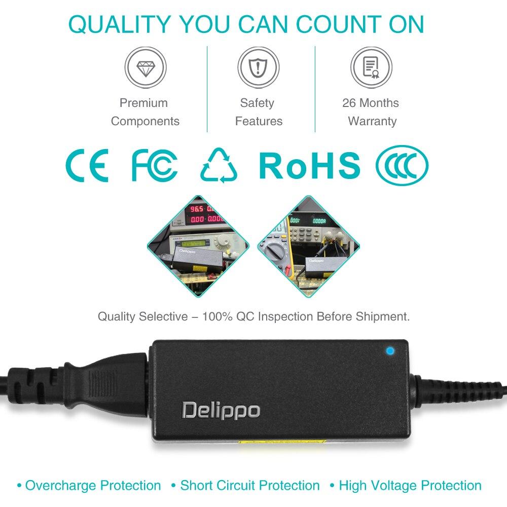 Delippo 19V 2.1A AC адаптер Зарядное устройство для Asus EeePC 1001HA/P/PX, 1001 1001P 1005 1005HAB 1008HA ноутбук зарядное устройство Шнур питания