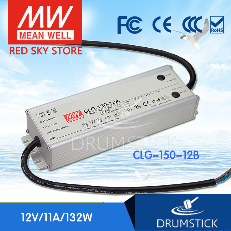 100% Original MEAN WELL CLG-150-12B 12V 11A meanwell CLG-150 12V 132W Single Output LED Switching Power Supply [Real6] meanwell 12v 132w ul certificated clg series ip67 waterproof power supply 90 295vac to 12v dc