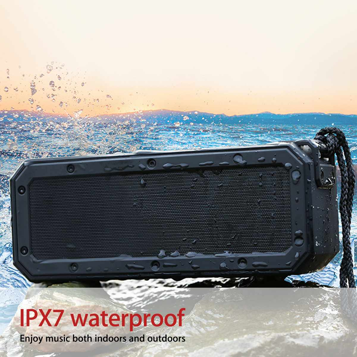 40W bluetooth 5 0 Speaker Column Portable Speaker IPX7 Waterproof Subwoofer with 360 Stereo Sound Outdoor Speakers Boombox in Subwoofer from Consumer Electronics