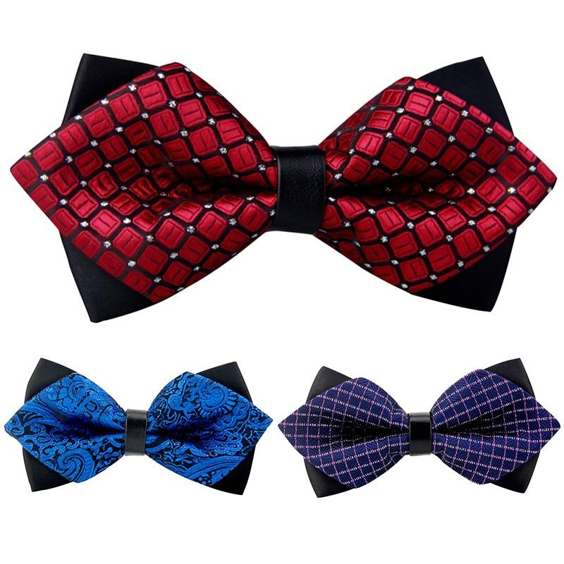 Mantieqingway Bowknot Pajaritas para hombres Poliéster Popular Bowtie Corbatas Corbatas Corbatas de marca Marcas de negocios más nuevas Pajaritas Boda
