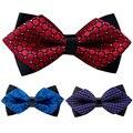Vestuário de moda Bowknot Bowtie Gravatas dos homens Laços de Poliéster Bowties Para Homens Popular Marca Mais Recentes Camisas de Negócios Gravata borboleta Casamento