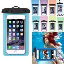 Universel clair téléphone portable pochette sèche étanche PVC sac de téléphone portable pour la natation plongée Sports nautiques coque de téléphone sac 105x175MM