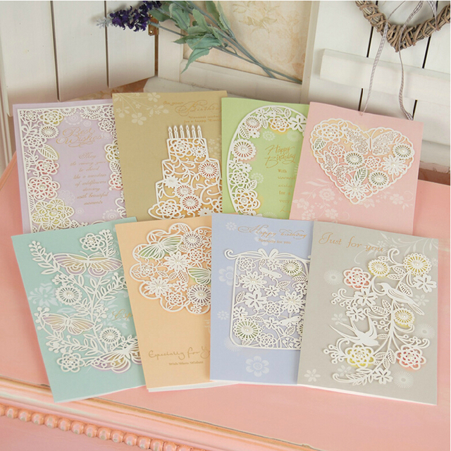 Aliexpress Buy elegant laser cut birthday greeting cards for – Handmade Luxury Birthday Cards
