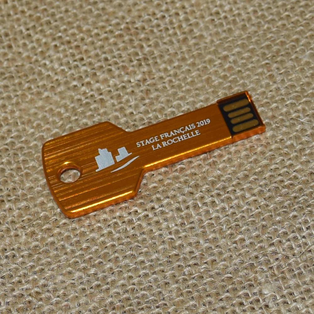 Logo na zamówienie pen drive 4GB 8GB metalowa szybka pamięć usb prawdziwa pojemność pamięć usb 16GB pamięć usb 64GB Pendrive 32GB