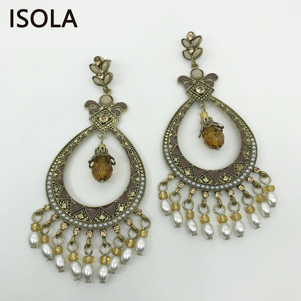 Buy pearl rhinestone earrings chandelier and get free shipping on  AliExpress.com da4669e344c5