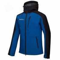 Mammoth Men Hiking Trekking Camping Skiing Male Windbreaker Men's Winter Softshell Fleece Jackets Outdoor Sportswear Coat