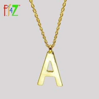 F.J4Z-collar con colgante con inicial para mujer, colgante con letras del alfabeto,...
