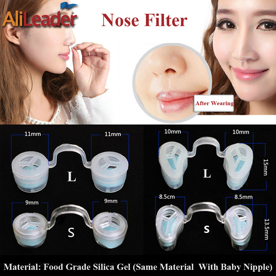 Comfortable Nose Invisible Nasal Filters Anti Air Pollution Pollen Allergy Mask Removable Nose Dust Filter Nose And Round Shape 2 pairs frame 2 pairs filter invisible pollen allergy nose filter pm2 5 dust n95 breathable stealth nasal filter mouth air mask