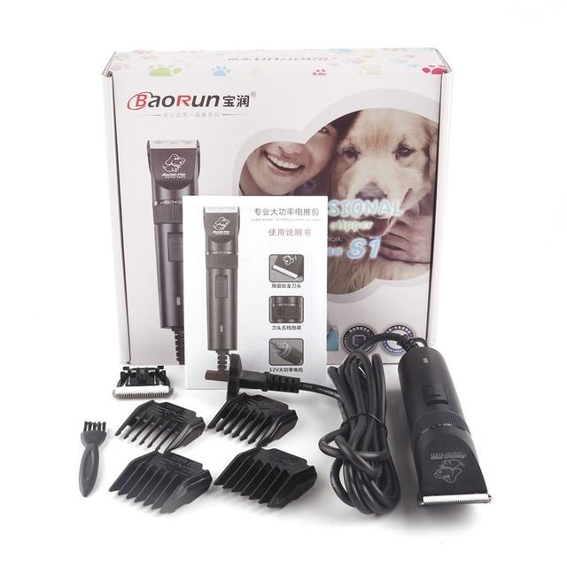 Baorun S1 Anjing Profesional Listrik Rambut Gunting dan Alat Cukur Hewan  Peliharaan Pemangkas Alat Cukur Cutting ce5b1f7d9a