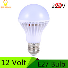 New E27 Led Bulb 12V LED Lamp 3W 5W 7W 9W 12W 15W dc 12 Volts Lampada Led E27 Home Solar Motor Home Bulb DC12V Cold White