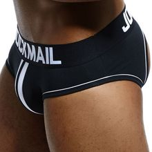 JOCKMAIL Open Backless crotch G-strings Sexy Men Underwear Briefs Gay Penis tang