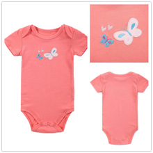 Baby Boy Girl Clothes Short Sleeve Butterfly 2016 Summer Baby Romper Pink Newborn Next Jumpsuits & Rompers Baby Product r042