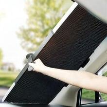 Автоматический складной солнцезащитный козырек на лобовое стекло для внедорожника, MPV, грузовика, окна автомобиля, солнцезащитный козырек, Улучшенный УФ-Защита от солнца, защищает ваш автомобиль от холода