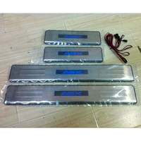 FOR Mitsubishi ASX 2011 2015 LED Welcome Pedal Scuff Plate Door Sill Cover car styling auto accessories