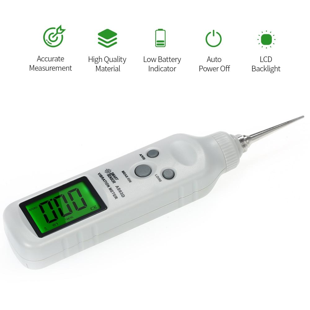 Piezoelectric Ceramic Vibration Meter Pen Accelerator LCD 3 In 1 Acceleration Velocity Displacement Tester Vibration Analyzer in Vibration Meters from Tools