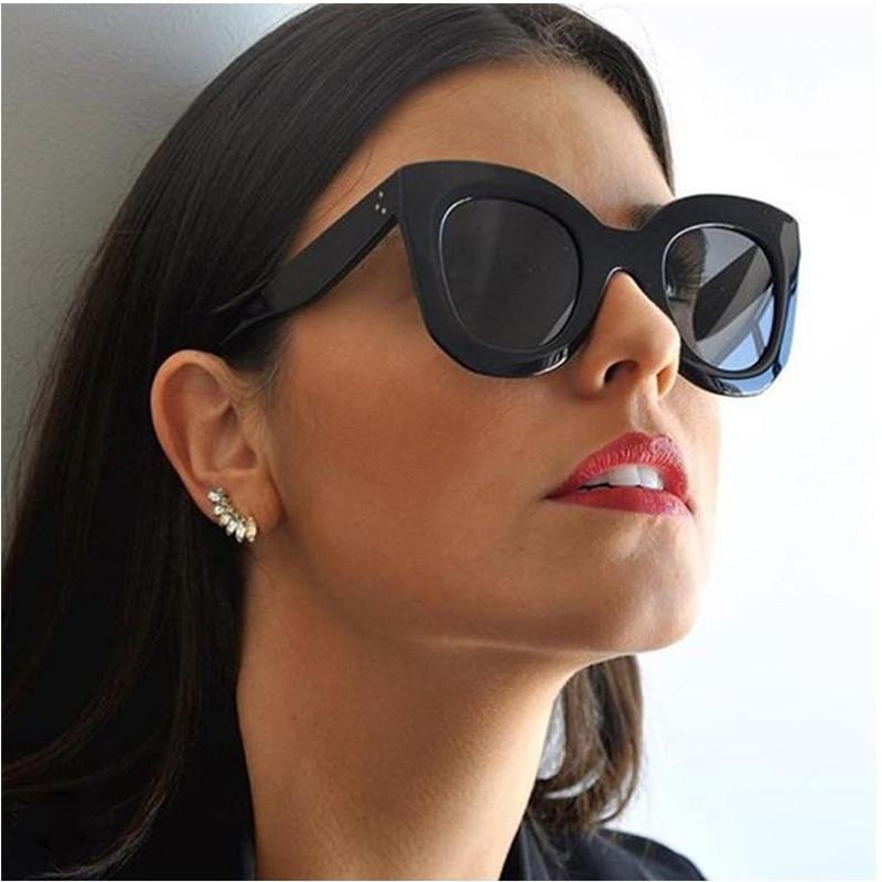 Vintage Sunglasses Oculos Ladies Shades Sexy Designer Women Brand Gradient UV400 Female