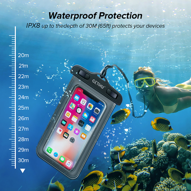 Universal Waterproof iPhone Case + Cover Pouch Bag  For X XS MAX 8 Plus  1