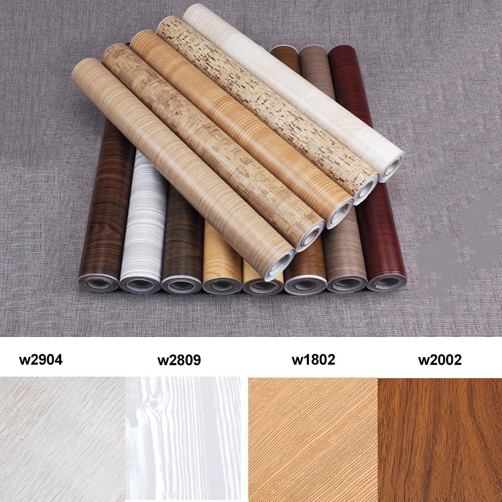 45 * 1000CM Retro Style Wood Grain Wall Stickers Mural PVC Environmentally Friendly Removable Self adhesive Wallpaper Home Decor
