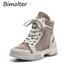 Bimolter Women winter Mixed Color Sneakers Flats Shoes Platform Basket Femme Casual Comfortable Walking NB001