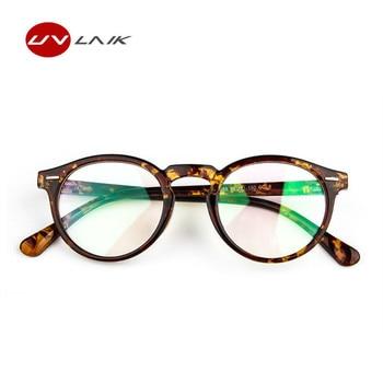 UVLAIK New Trendy Optical Lens Glasses Frame Clear Glass Women Brand Transparent Eyeglasses Women Ultra-light Eye Glasses Frame