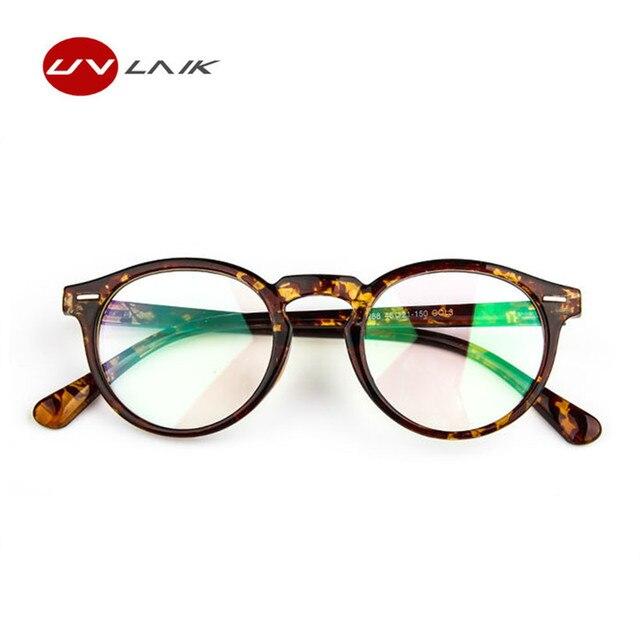 4910f25154 UVLAIK New Trendy Optical Lens Glasses Frame Clear Glass Women Brand  Transparent Eyeglasses Women Ultra-