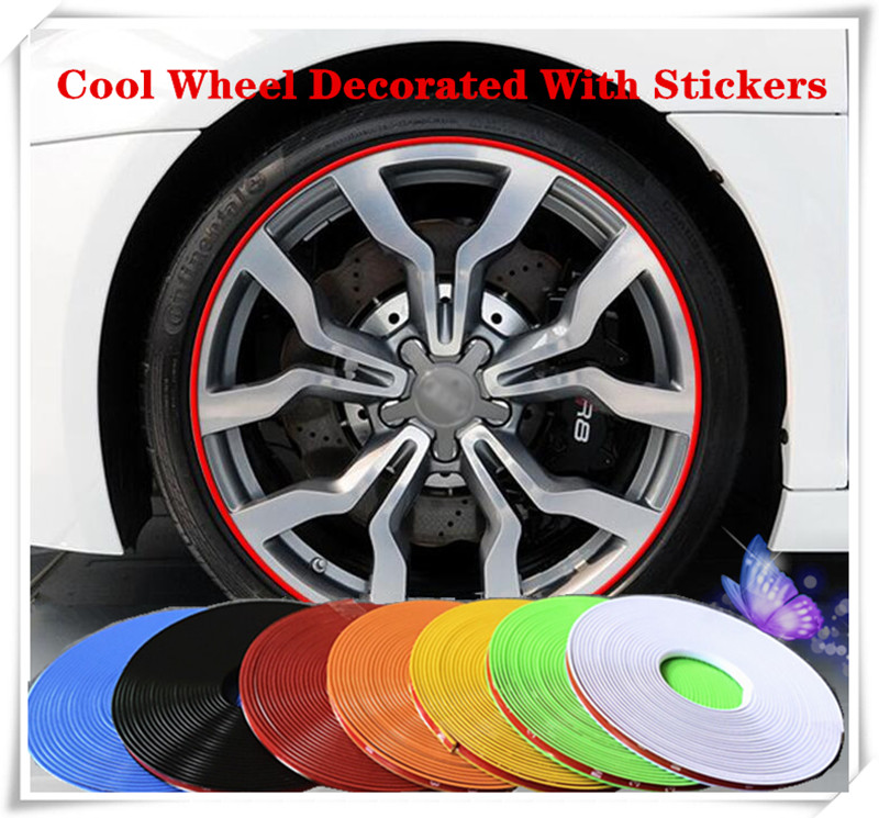 8M Car Styling Wheel Rim Protection Sticker Wheel Hub Protective Tape For Volkswagen VW polo passat b5 b6 CC golf Accessories