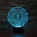 3D СВЕТОДИОДНЫЕ Лампы Сенсорный Датчик Футбол Форме 3D Ночник для Футбол Реал Мадрид Поклонники Подарок LED Luminaria Освещение Спальни спорт