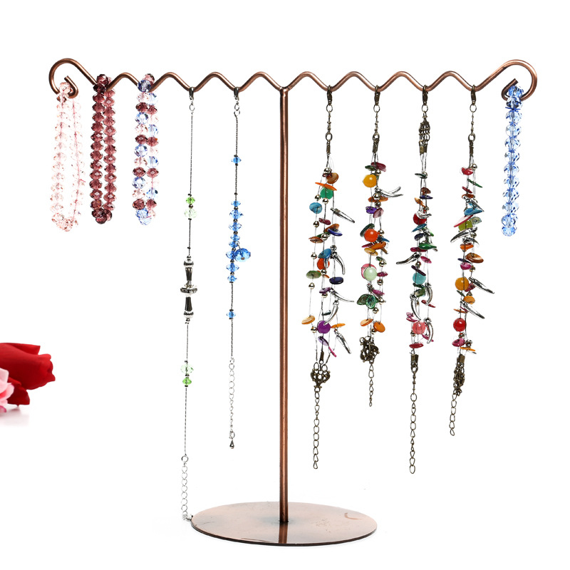 Retro Jewelry Display Stand Holder Antique Craft Accessories Bracelet Earring Necklace Display Stand Show