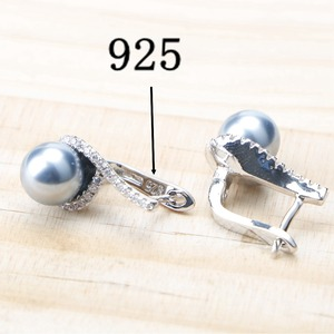 Image 5 - Balck Pearl 925 Sterling Silver Bridal Jewelry Sets Pearls Earrings For Women Wedding Jewelry Bracelet Ring Pendant Necklace Set
