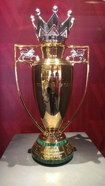 Gold Version Premier League Trophy FA Barclays Champion Cup 2004 Arsenal Awards