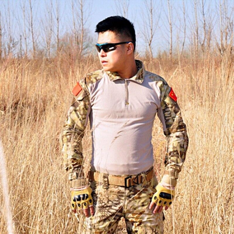2017 nouveau Kryptek Typhon désert équipement tactique chemise et pantalon Gen2 uniforme de Combat armée BDU ensemble avec genouillères