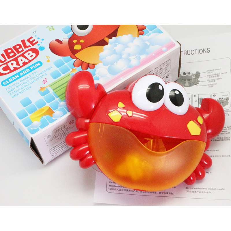 The Best Funny Music Crab Bubble Blower Machine Automatic Crab Bubble Maker Kids Bath Db Bathing Accessories Baby