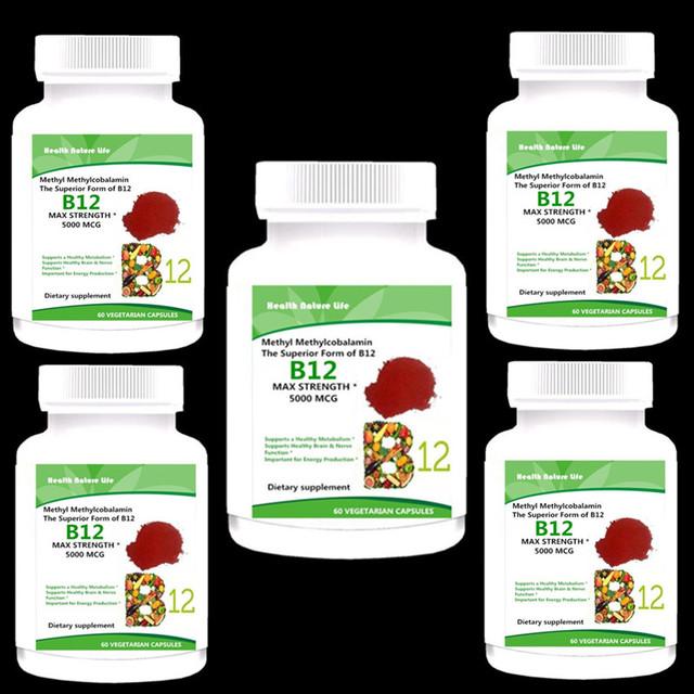 Methylcobalamin (Methyl B12): Energy, Metabolism, Brain Cells – 5000 mcg * 60 Caps