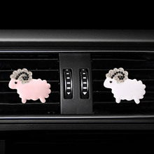Inlay Water drill sheep car air freshener perfume bottle diffuser  in the auto Air conditioner outlet vent Perfume clip
